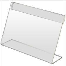 25pcs Mini Acrylic Sign Display Holder Price Card Desktop Label Stand Accessory