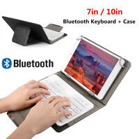 "7"" 10"" Case Cover+Wireless Bluetooth Keyboard For Huawei Samsung iPad Tablet PC"