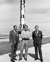 APOLLO 14 CREW ALAN SHEPARD, STU ROOSA & ED MITCHELL - 8X10 NASA PHOTO (ZZ-190)