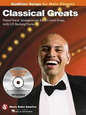 Classical Greats - Audition Songs for Male Singers: Piano/Vocal/Guitar Arrangeme