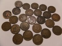 Estate Lot 1800/'s /& 1900/'s 25 Pennies Half Roll Of Indian Head Cents
