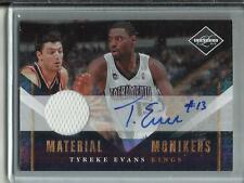 Tyreke Evans 10/11 Panini Limited Autograph Game Used Jersey #06/25
