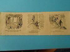 Caricature 1875 - Vignettes Sommet du Mont Blanc Voyage en Suisse