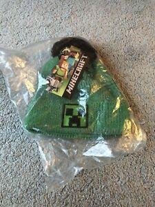 Minecraft green beanie woolie hat