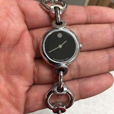 Movado Circlo Ladies Diamond Steel Watch Womens Swiss Circle Link White Dial