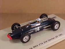 Spark 1/43 Resin Lola MK4, 2nd Place 1962 German GP,#14, John Surtees  #S1815