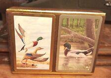 Mallard Ducks Congress Playing Cards Double Deck Original Flocked Box