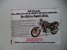 advertising Pubblicità 1979 MOTO DUCATI DARMAH 900 SD