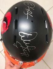 Warren Sapp Derrick Brooks SIGNED Custom Buccaneers Matte Black Full-Size Helmet