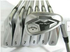 Used Callaway Apex 19 Forged Iron Set 5-P,A Regular SteelFiber Graphite Shafts