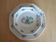 Avon China SWEET COUNTRY HARVEST 3 Salad Plates Octagonal Fruit design