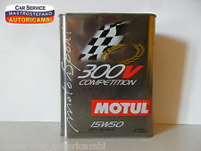 MOTUL 300 V COMPETITION MOTOR SPORT 15W50 - 2 LITRI-