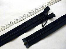 "Zip, Zipper 15""/ 38cm, Diamond Puller,Open End, Nylon YKK,Black"