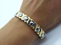 Herren Damen Edelstahl 316 L BIO magnetisch Armband 5 in 1 Gold/silber SG2