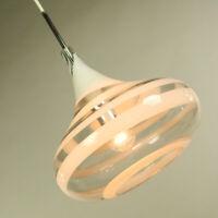 Pendel Leuchte Doria Glas Hänge Lampe Spirali Tulip Pendant Light 70er Size L