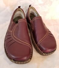 Earth clogs rich prune color leather size 6.5 womens