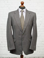 St Michael Marks & Spencer Single Breasted Vintage Suit Jacket Grey Wool 38R