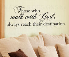 Wall Sticker Decal Quote Vinyl Art Graphic Those Who Walk With God Religious R19