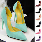 Sexy Women Suede Point Toe Pumps Stiletto High Heels Work Court Party Prom Shoes