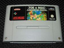 Jeu JOE & MAC CAVEMAN NINJA SNES Super Nintendo Super NES PAL FAH