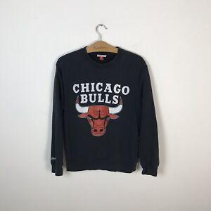 CHICAGO BULLS NBA BASKETBALL SWEATSHIRT MITCHELL NESS JERSEY SIZE M