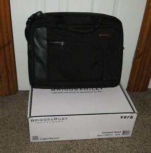 """Briggs & Riley Verb Contact 13"""" Laptop Briefcase, Black"""
