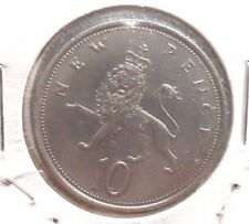CIRCULATED 1969 10 NEW PENCE UK COIN (021516)