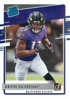 Devin Duvernay RC 2020 Donruss Football Rated Rookie Card #329 Baltimore Ravens
