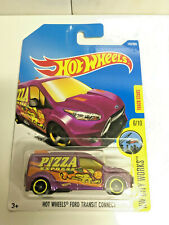 2017 Hot Wheels Ford Transit Connect Pizza Express City Works #6/10 Purple NIP