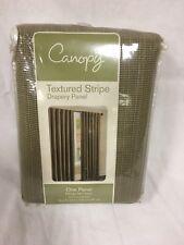"canopy textured stripe drapery panel 52"" x 95"" aloe green"