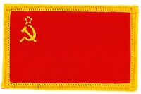 URSS RUSSIA CCCP USSR FLAG PATCHES COUNTRY PATCH BADGE IRON ON NEW EMBROIDERED