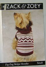 Zack & Zoey Brown Striped Hoodie Dog Coat