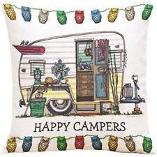 Caravan Cute Sixties Linen Square Pillow Cushion Cover!