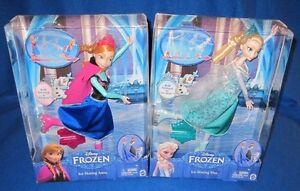Barbie Disney Frozen Anna & Elsa Ice Skating Set CBC61 NEW