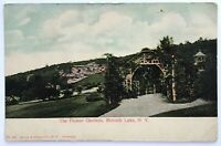 Postcard Mohonk Lake NY Ulster County The Flower Gardens 1900's 1906 Undivided