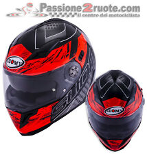 casco Suomy Halo Drift Black Rojo Casco moto integral helm Talla L