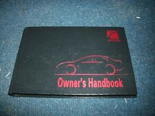 1997 SATURN SL SL1 SL2 SC1 SC2 SW1 SW2 OWNERS MANUAL HARDCOVER BOOK NICE