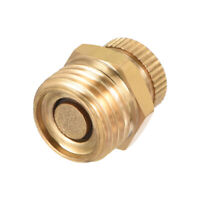 1/4BSP Male Thread Dia Air Compressor Part Brass Tone Security Water Drain Valve