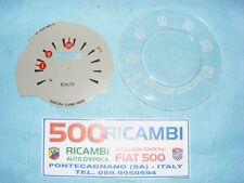 FIAT 500 F/R KIT VETRO + QUADRANTE CONTACHILOMETRI TACHIMETRO CRUSCOTTO 120 Km/h