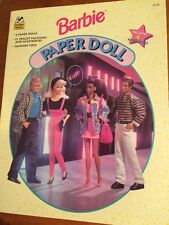 Vintage Barbie Paper Doll 1994- Pristine- 4 Dolls- PreCut-Ships FREE