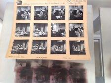 EUGENE IONESCO (1960) : PLANCHE CONTACT AVEC NÉGATIFS ORIGINAUX