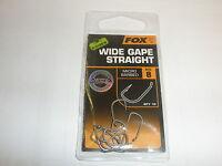 Fox Edges Wide Gape Straight Hooks 10pk ALL VARIETIES Carp fishing tackle