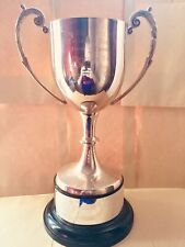 """Huge Large Antique Silver Trophy Shabby Chic Cup - 14"""" / 355mm #107 Free UK P&P"""
