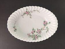 """Haviland Limoges Eglantine 10⅝"""" Oval Vegetable Serving Bowl Platter Swirl Torse"""