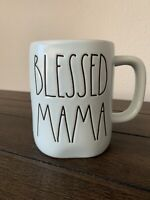 Rae Dunn Blessed Mama Coffee Cup Mug Light Blue New Mother's Day