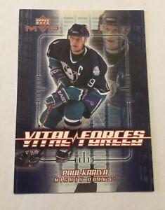 2003-04 Upper Deck MVP Vital Forces Paul Kariya #VF1   (116)
