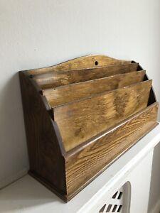 Vintage Wood Letter Rack