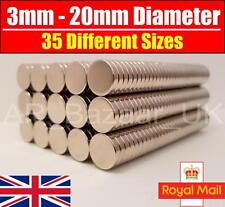 Neodymium Magnets Rare Earth Super Strong Craft Disc NdFeB N35 N52 | 3mm to 20mm
