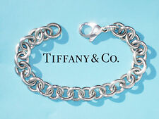 Tiffany & Co. Sterling Silver Large Link Charm Bracelet in Tiffany Pouch & Box