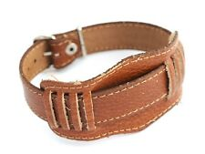 Soviet old military style watch wristband Brand New Genuine Leather 20mm Russian